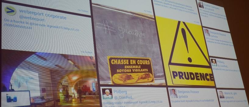 Mur des tweets diffusés pendant la soirée d'anniversaire.